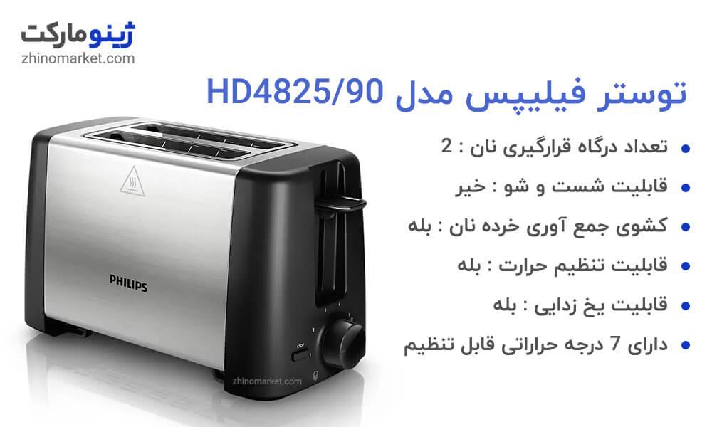 مشخصات توستر فیلیپس مدل HD4825/90
