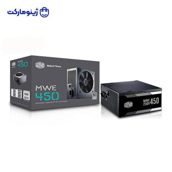 منبع تغذیه کامپیوتر کولر مستر مدل MWE white 450