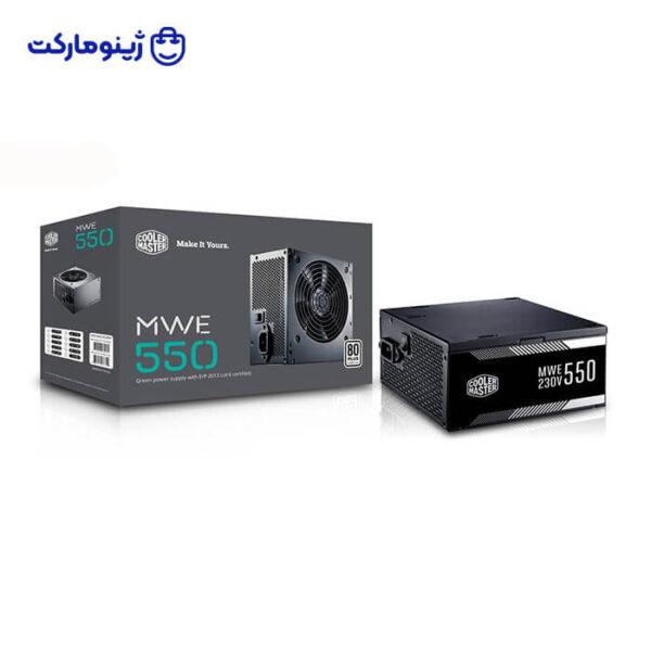 منبع تغذیه کامپیوتر کولر مستر مدل MWE white 550