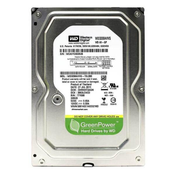 هارد دیسک اینترنال وسترن دیجیتال مدل Green 320AVVS ظرفیت 320 گیگابایت